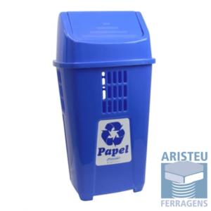 Cores das Lixeiras para papel é o Azul